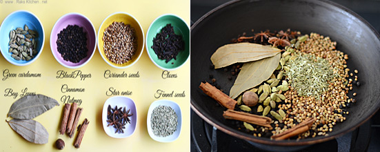 garam masala powder recipe step 1