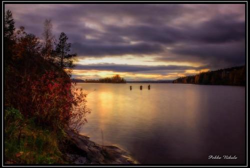autumn lake water finland evening autumncolors tampere isle pyynikki syksy pyhäjärvi