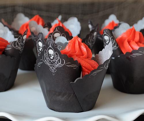 Pink Lemonade Halloween Cupcakes