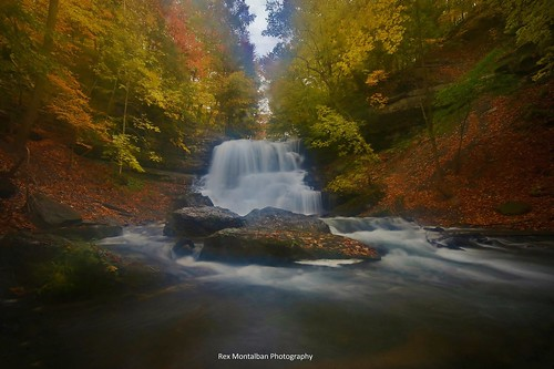 autumn waterfalls decew nothdr rexmontalbanphotography pse9 photoshopelements9 thesecondorlowerwaterfall