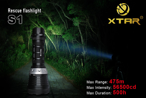 XTAR S1, XTAR LED Flashlight, Power LED Flashlight