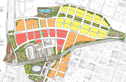 proposal for green space distribution and design (by: Shengnan An, courtesy of UC Davis)