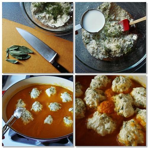 Making Of Herb Dumplings