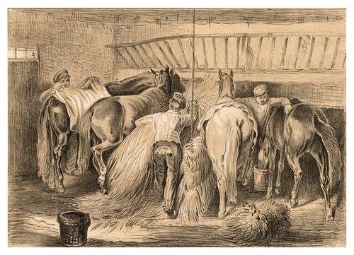 001-Alimentando a los caballos-Album für die Cavallerie und ihre Freunde- Otto Fikentscher- Universität Düsseldorf
