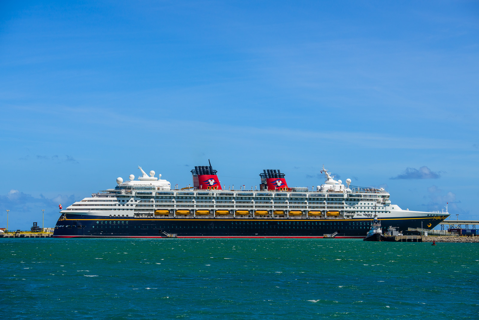 Disney Cruise Ship at Kahului Harbor