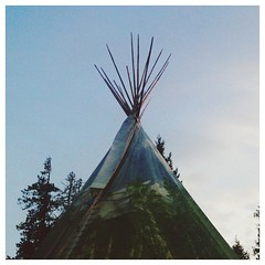 36 foot teepee in the middle of the woods. #teepee #adventure #vscocam