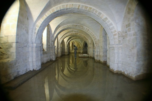 Waterlogged Crypt at winchester Cathedral