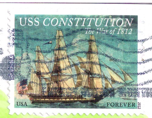 USA USS Constitution Stamp