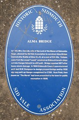 Photo of Alma Bridge blue plaque