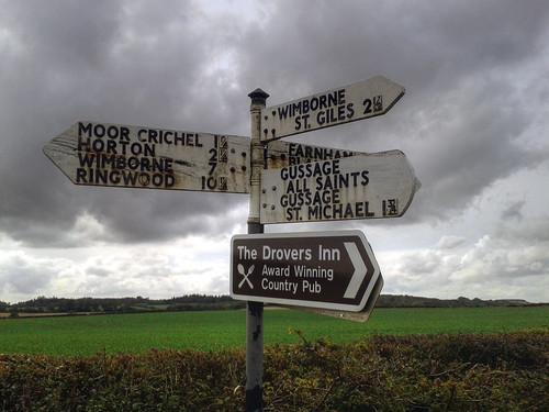 Signpost in Dorset