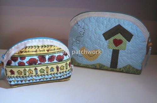 Kit necessaire Casinhas de Passarinho by tania patchwork