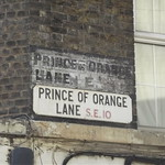 Prince of Orange Lane, Greenwich - road sign - SE10