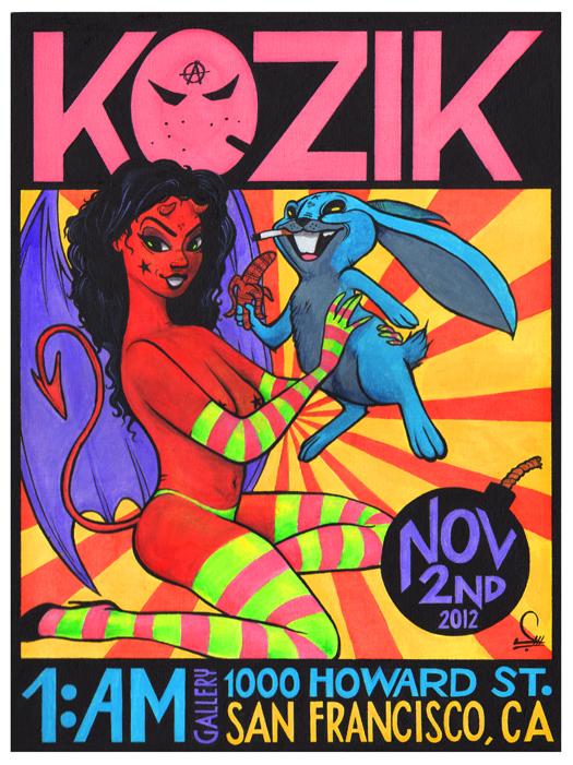 Original Kozik Show Poster by Sergio Mancini