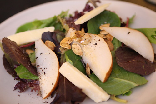 Pear and Aged Cheddar Salad with Pepitas