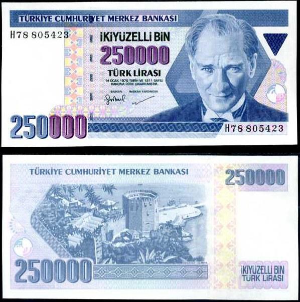 250 000 Lirasi Turecko 1998, Pick 211