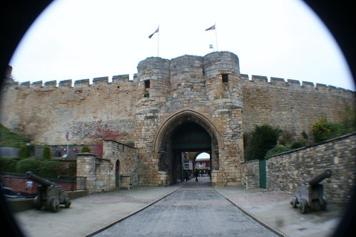 Main entrance to Lincoln Castle, England