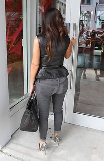 Kim Kardashian At the Christian Louboutin store