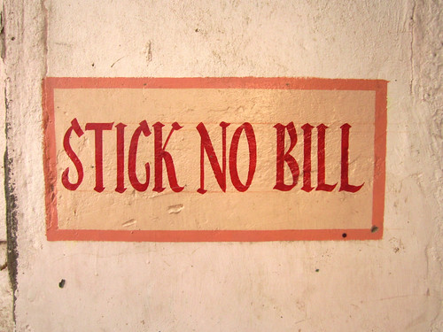 Stick no bill.