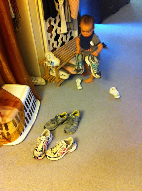Lining up mommas shoes