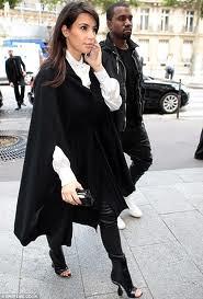 Kim Kardashian Cape Coat Celebrity Style Women's Fashion 2