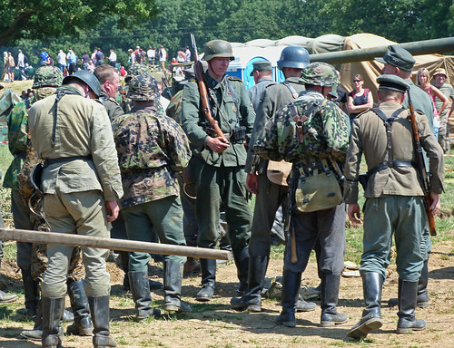 German Re-enactors mooch around