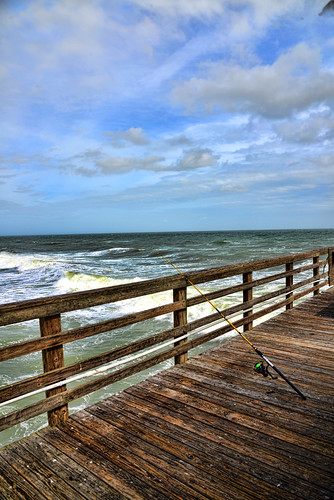 sea fish beach water birds pier mar fishing agua florida oceano flager