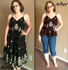 Dress-to-Cami Before & After