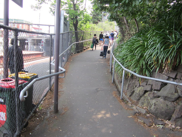Ramp from platform 3, Camberwell station