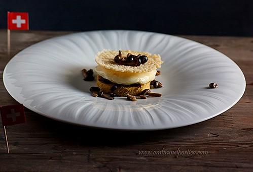 Polenta, formaggio e funghi
