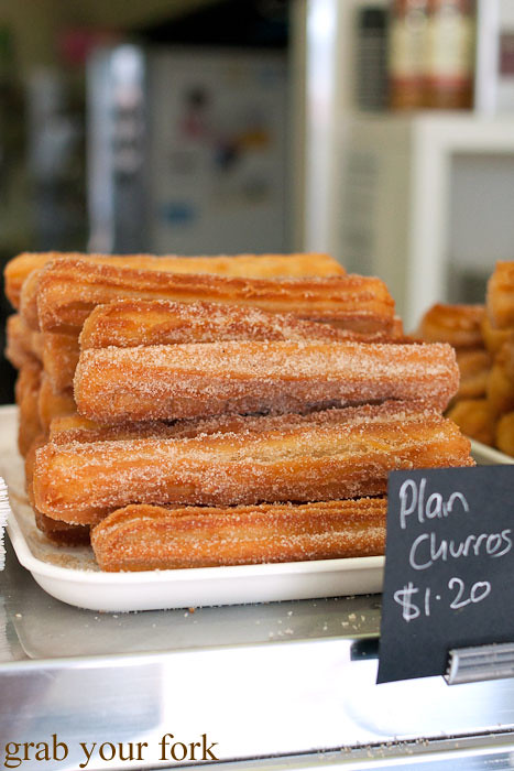 churros at sugarloaf patisserie kogarah