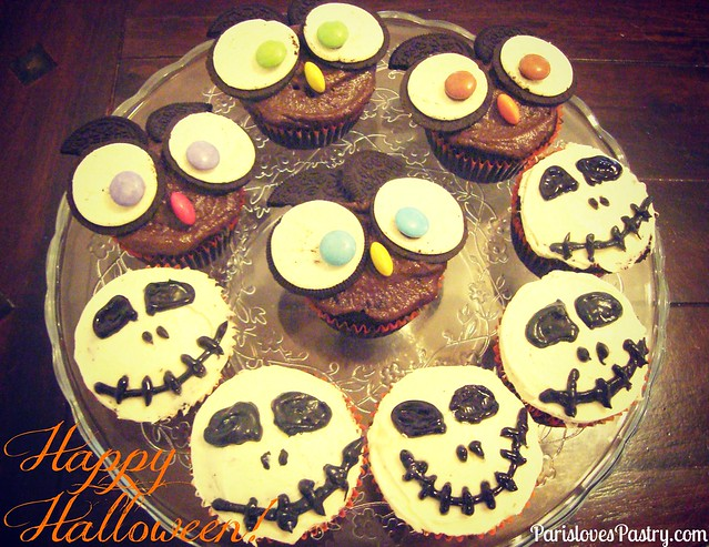 Owl Cupcakes & Nightmare Before Christmas Cucpakes