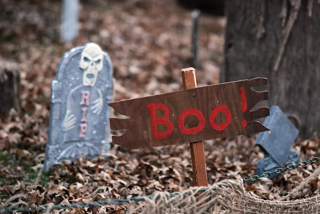 Halloween decoration at the Saint Louis Zoo