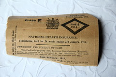 Vintage health insurance card (woman's) 2nd half 1914 by Crazy House Capers