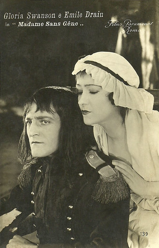 Gloria Swanson and Émile Drain in Madame Sans-Gêne