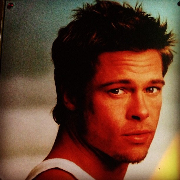 brad pitt's picture (vintage) #photography #poster