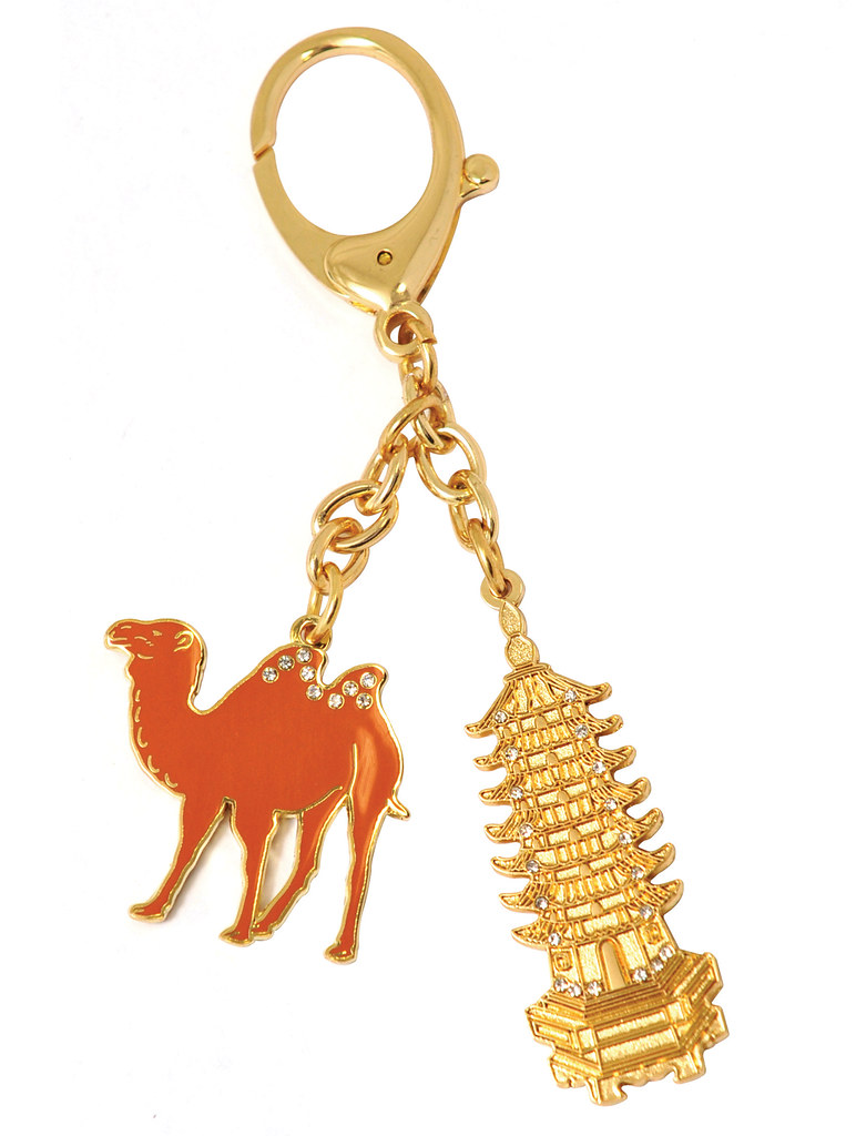 WOFS Small Ad - Golden Pagoda with camels keychain.jpg