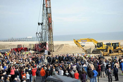 Groundbreaking: new Belmar boardwalk