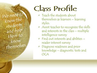 "Educational Resource:  ""What can go in a class profile"""
