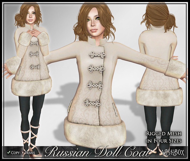 Russian Doll Coat (Ivory)