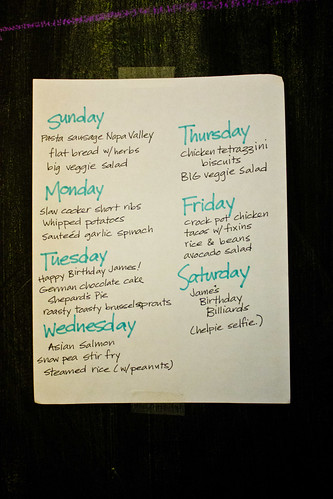 This week's meal plan