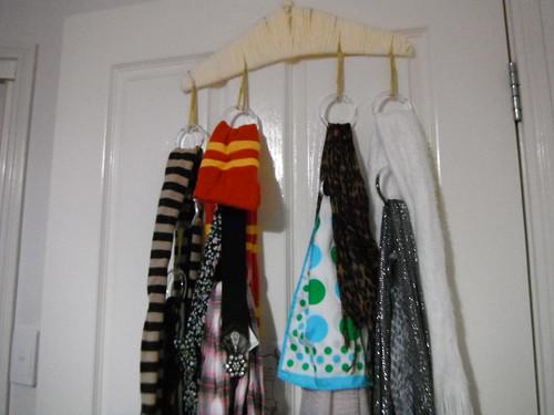 Scarf rack filled!