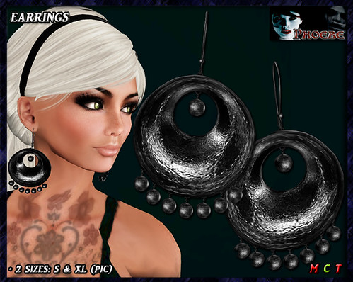 $55l ~ *P* Monica Earrings ~Black~ 756x512