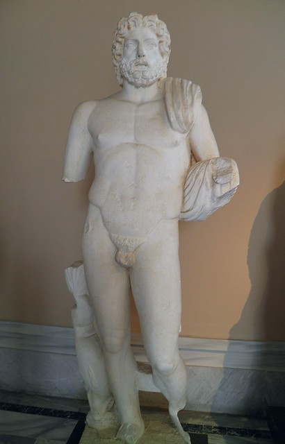 Statue of Poseidon, from Byblos, Lebanon, early Roman 1st century BC - 1st century AD, Istanbul Archaeology Museum