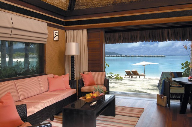 The St. Regis Bora Bora Resort—Villa Living Room