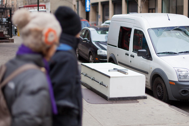 Coffin on 8th ave