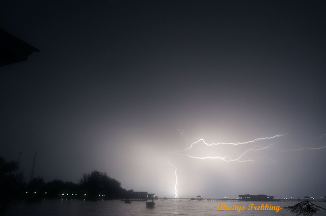 Tropical lighting storm