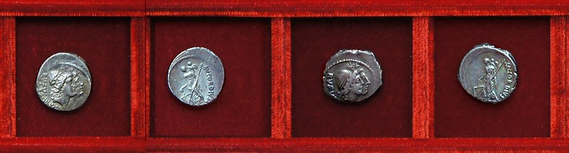 RRC 463 MN.CORDIVS RVFVS Cordia denarii and quinarius, Ahala collection Roman Republic