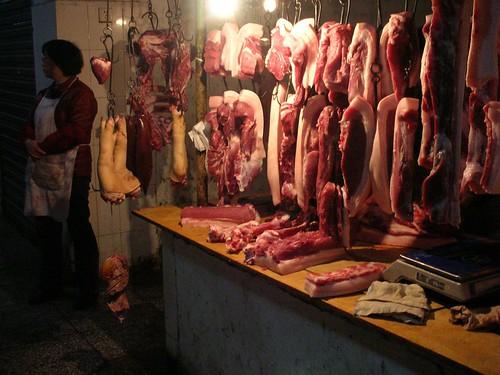 china pork sichuan butchers freemarkets
