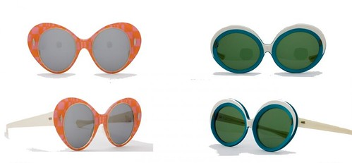 Acetate sunglasses, Renauld, United States, c. 1960s and Laminated-acetate sunglasses, France, c. 1965