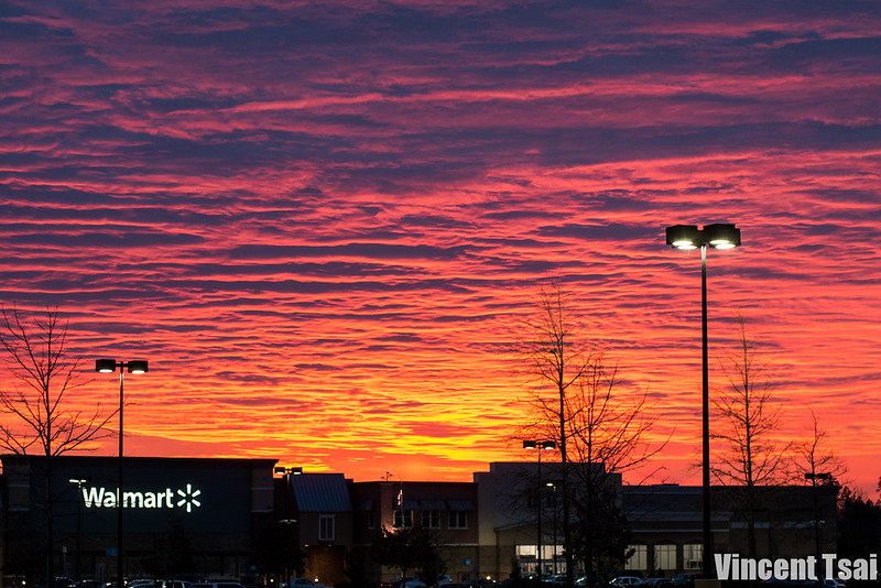 Sunrise over Walmart